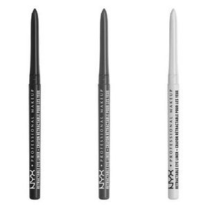New & Sealed NYX Black Grey White Eyeliner Bundle